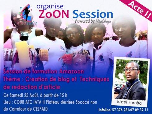 Les amazoon du web et leur invité, Israel Yoroba, célèbre blogueur ivoirien