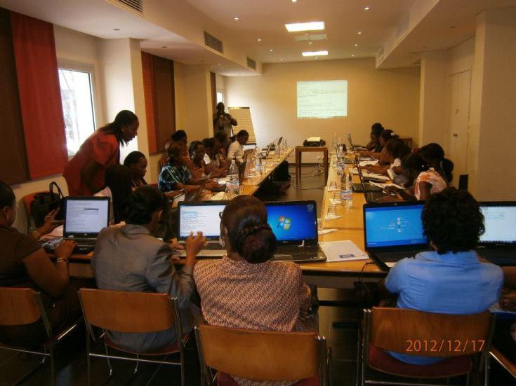 une vue de la salle formation. Atelier DRUPAL: femmes et TIC