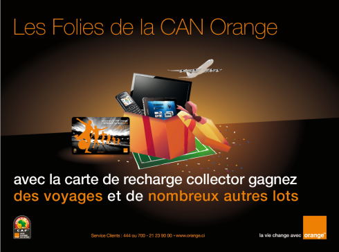Campagne affichage carte collector orange côte d'ivoire