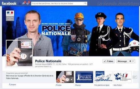Facebook police nationale