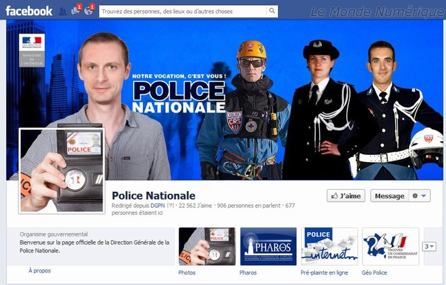 Facebook police nationale