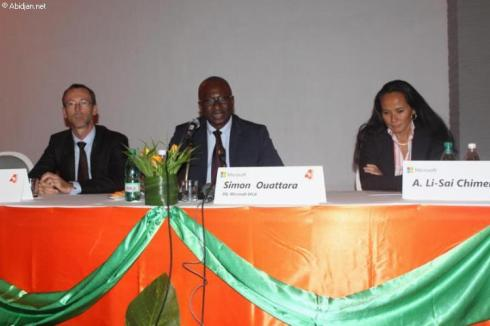 la table de séance au lancement Microsoft 4Afrika