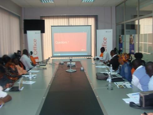 lancement office 2013 à Abidjan dans les locaux de Microsoft au Plateau