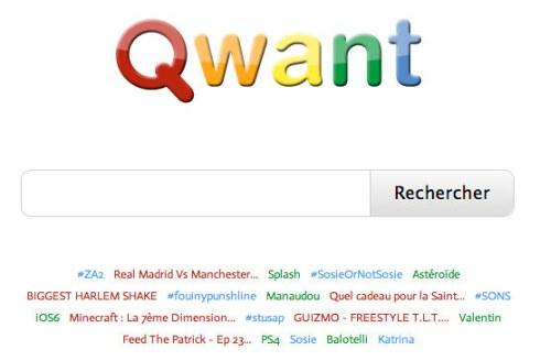 Qwant, le nouveau moteur de recherche français se positionne